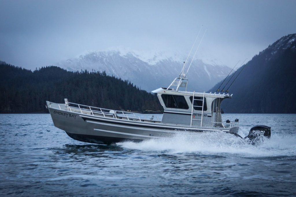Vessel Smokey Bay Departing on a Guided Alaska Sea Duck Hunt in Homer's Kachemak Bay